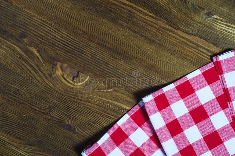 Checkered Serviette lizenzfreies stockbild