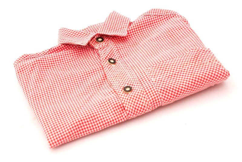 Checkered shirt stock photo