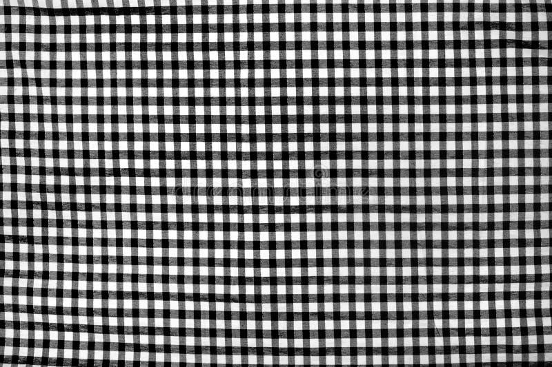 Checkered Textile Background Stock Photo