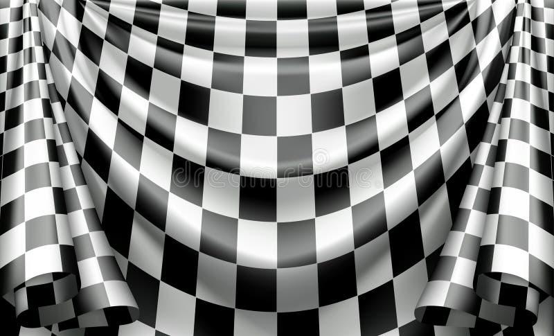 Checkered Trennvorhang vektor abbildung
