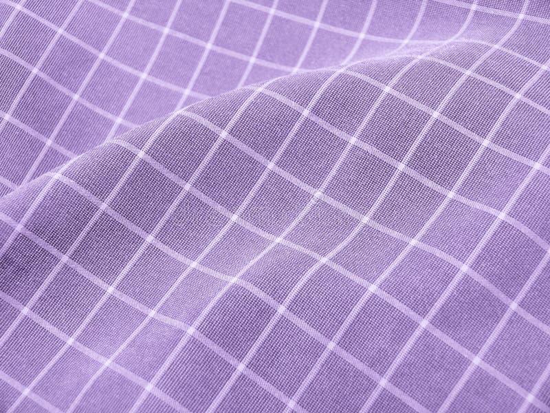 Checkered violettes Gewebe lizenzfreies stockfoto
