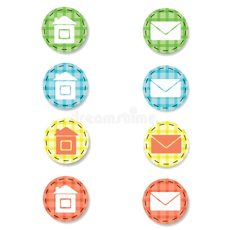 Download Checkered web buttons stock vector. Image of control - 19190064