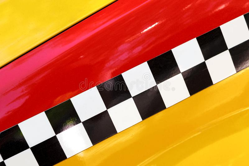 Checkered Yellow Taxi Cab. Abstract background image. stock images