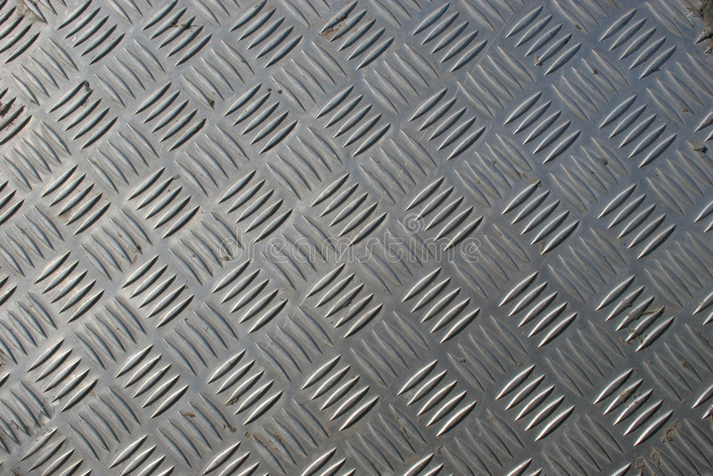 Checkerplate d'acier inoxydable photo libre de droits