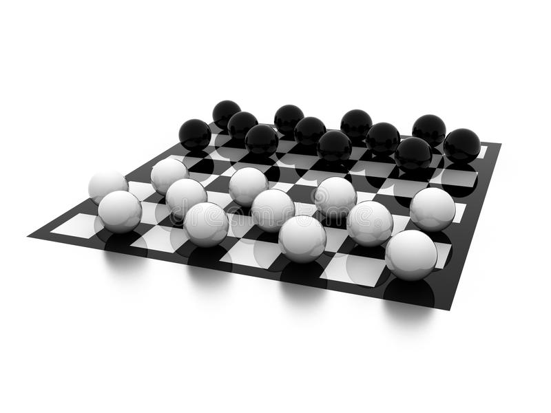 Download Checkers stock illustration. Illustration of background - 16338113