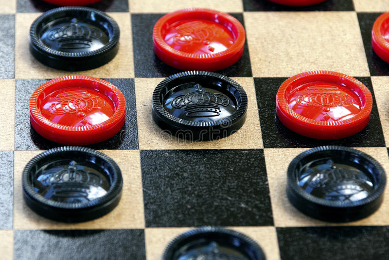 Checkers stock image