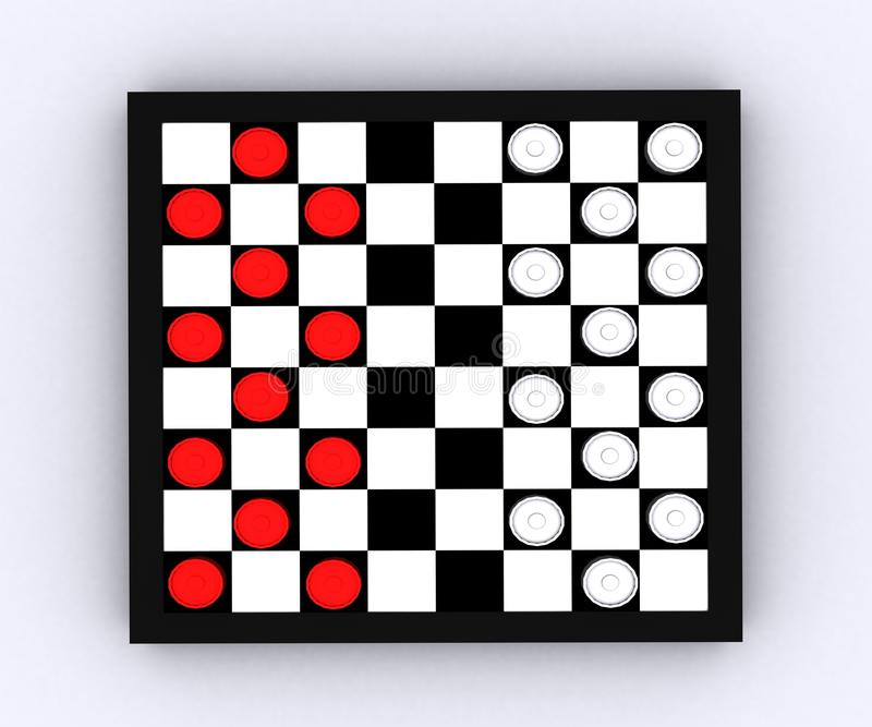Download Checkers - 3D stock illustration. Image of pieces, choosing - 25754194