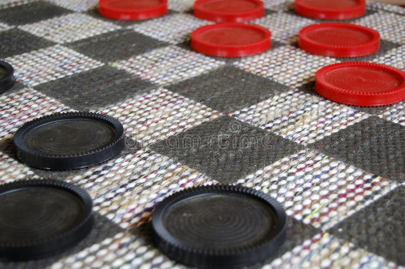 Checkers anyone stock photo