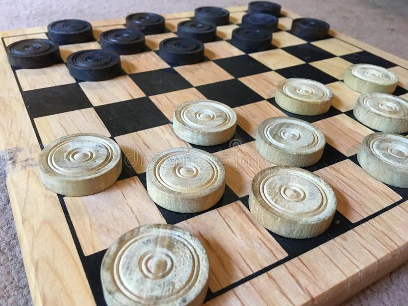 Checkers board stock photos