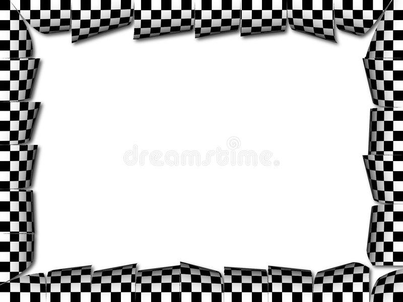 Checkers frame. Frame with checkers pattern stock illustration