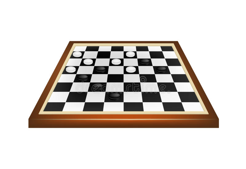 Download Checkers game stock vector. Image of battle, chessboard - 25862234