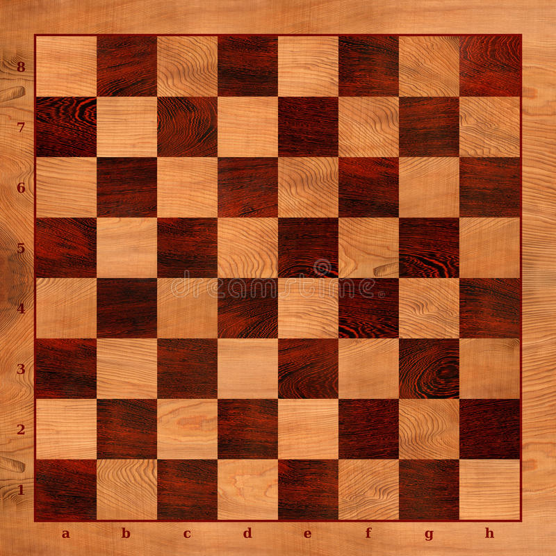 Checkers Game Board. Flat Checkers Game wooden board vector illustration