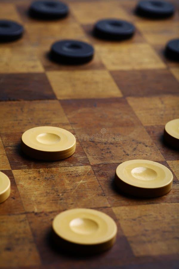 Checkers game royalty free stock photos