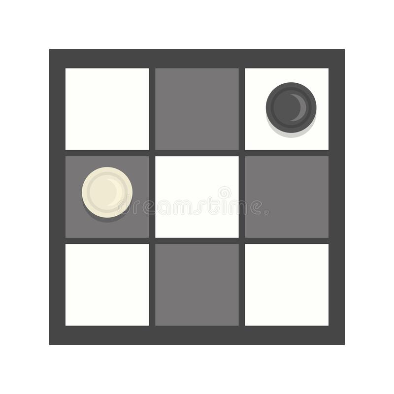 Checkers game icon illustration cartoon. And flat style.Board game royalty free illustration