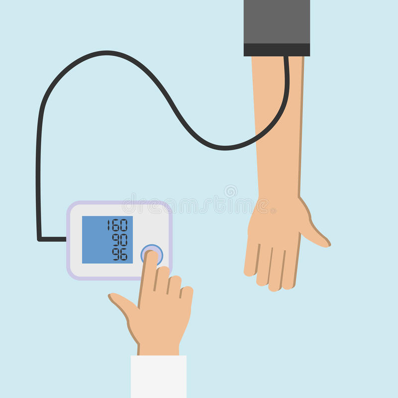 Checking blood pressure 2 stock illustration