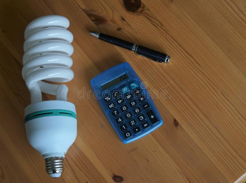 Electric bill charges. Checking the electricity bill charges royalty free stock images