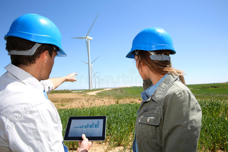 Checking on energy production royalty free stock images