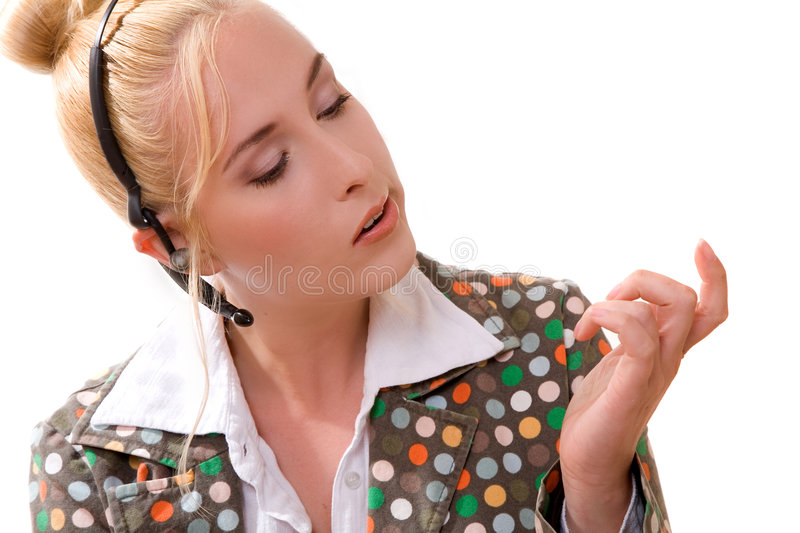 Download Checking her nails stock photo. Image of isolated, bored - 2820188