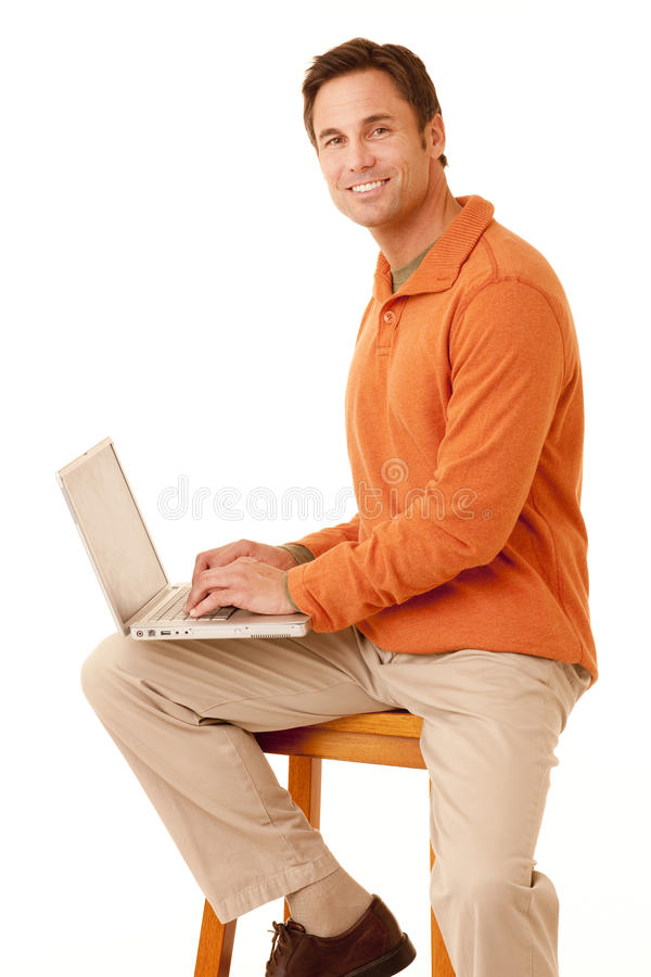 Checking On-line Royalty Free Stock Photo