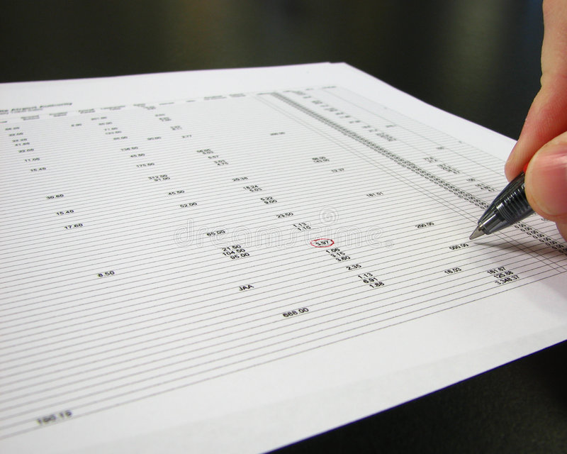 Checking The Numbers Stock Images