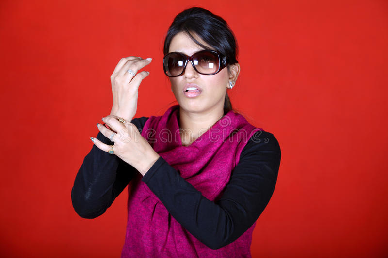 Download Checking pulse stock image. Image of goggles, indian - 22242443