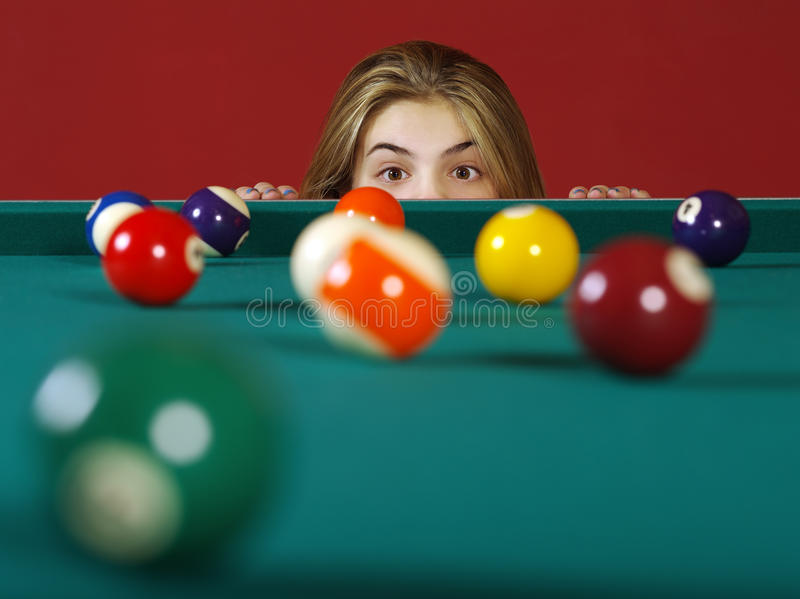 Download Checking For A Shot While Playing Pool Stock Photo - Image of table, leisure: 28627282