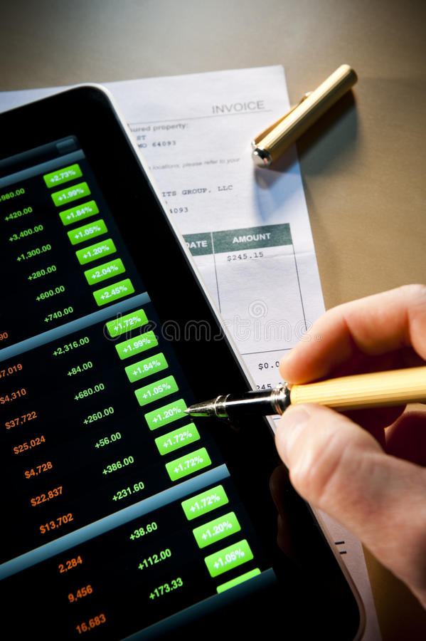 Download Checking stocks stock image. Image of analyzing, technology - 20958173