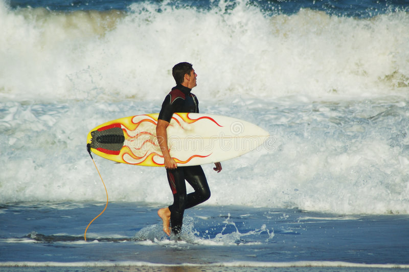 Download Checking the surf stock image. Image of surfing, ocean - 236509