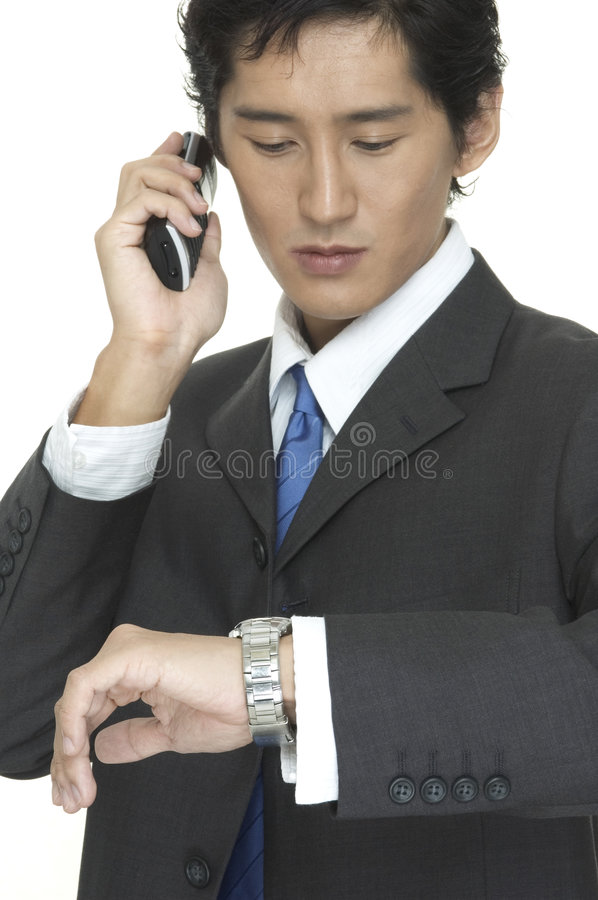 Download Checking The Time stock image. Image of cellphone, business - 100207