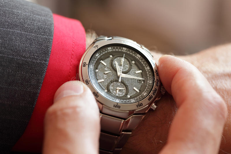 Download Checking the time stock photo. Image of jewelry, businessman - 26555098