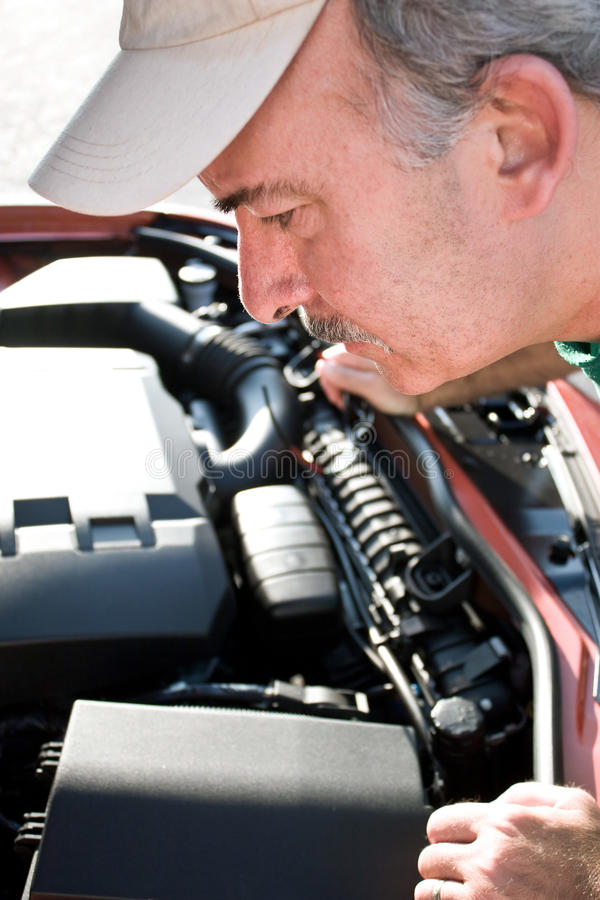 Download Checking Under The Hood Stock Photo - Image: 11346360