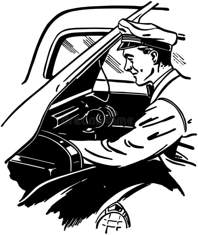 Checking Under Hood stock illustration
