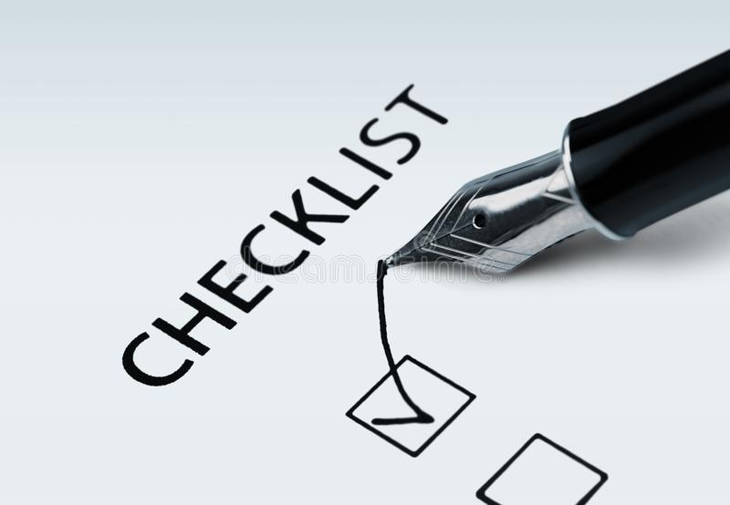 checklist images stock