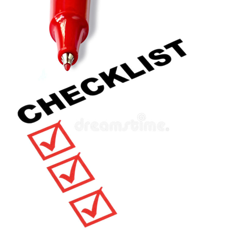 Download Checklist stock image. Image of form, printed, service - 14855085