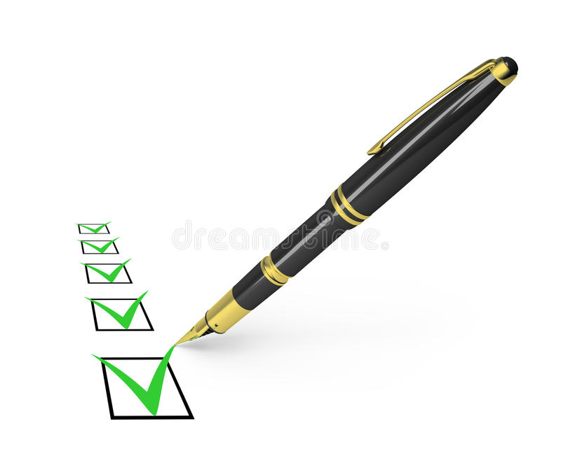 Checklist royalty free illustration