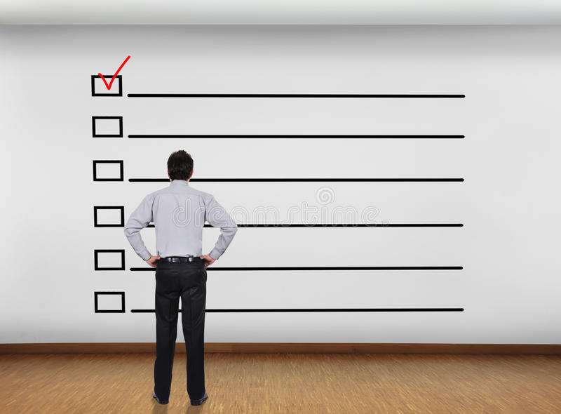 checklist photographie stock