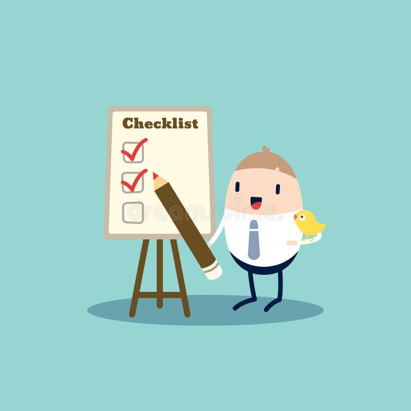 checklist ilustração royalty free