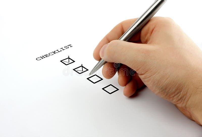 checklist στοκ εικόνα