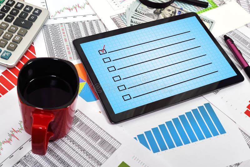 checklist imagem de stock royalty free