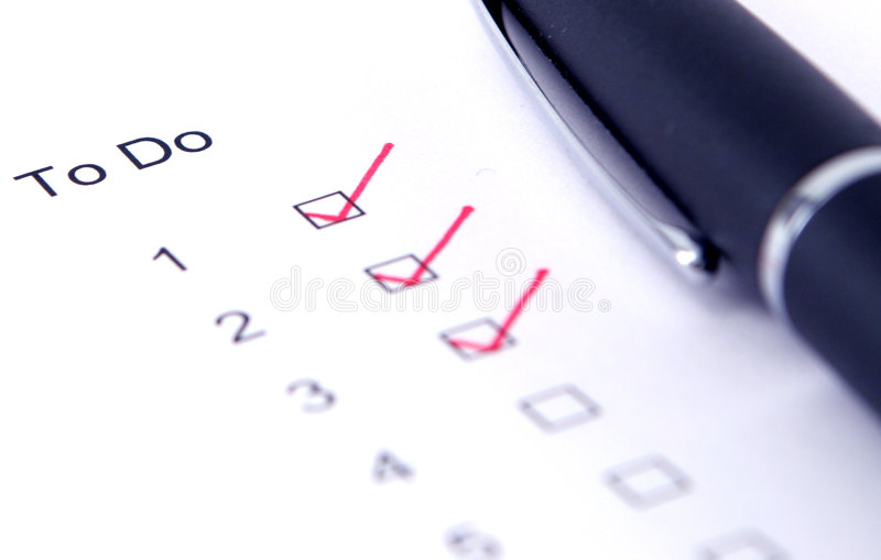 Checklist royalty free stock image