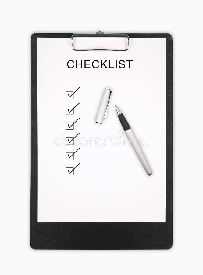 checklist foto de stock royalty free