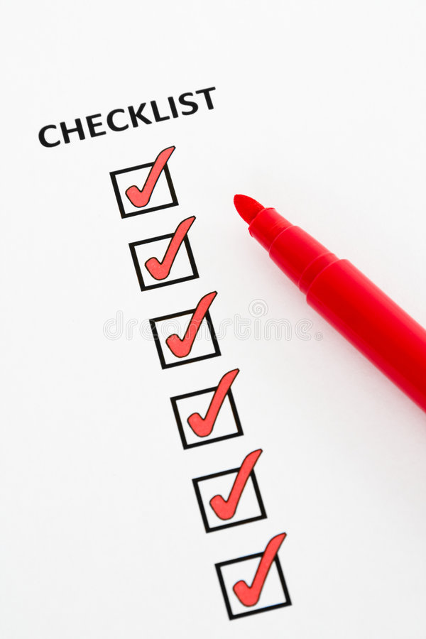 Download Checklist stock image. Image of achievements, paper, checkbox - 7793693