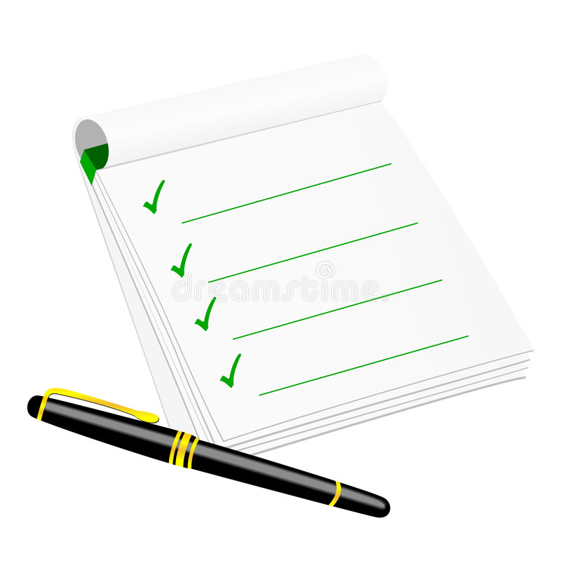 Download Checklist Stock Image - Image: 8761141