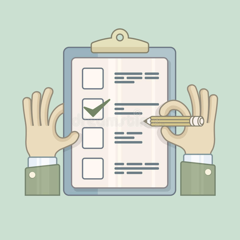 checklist ilustração do vetor