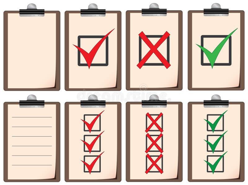 Download Checklist boards stock illustration. Image of clip, list - 35256597