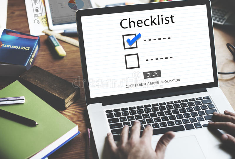 Checklist Choices To Do Audit Evaluation Concept royalty free stock photo