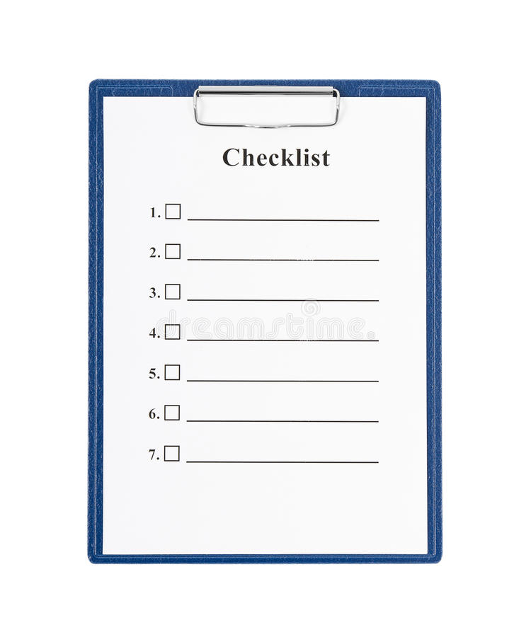 Download Checklist and Clipboard stock image. Image of number - 28279481