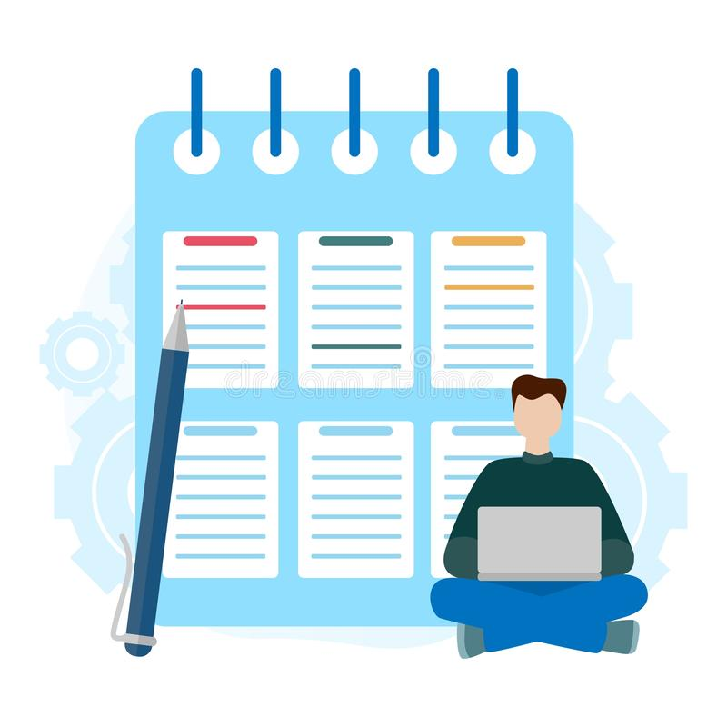 Checklist clipboard. Successful completion of business tasks. Questionnaire, survey, task list. stock illustration