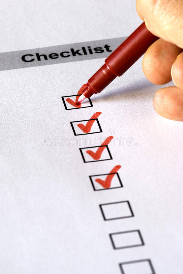 Free Checklist Form Royalty Free Stock Images - 11281139