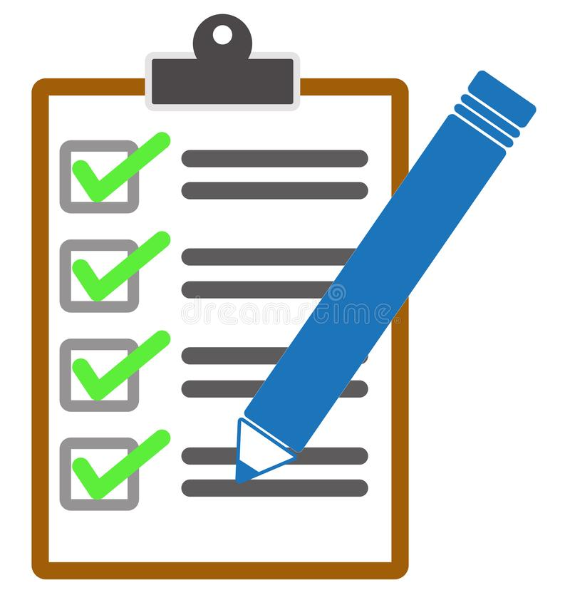Checklist icon from Business on white background. checklist and pencil icon for your web site design, logo, app, UI. flat style vector illustration